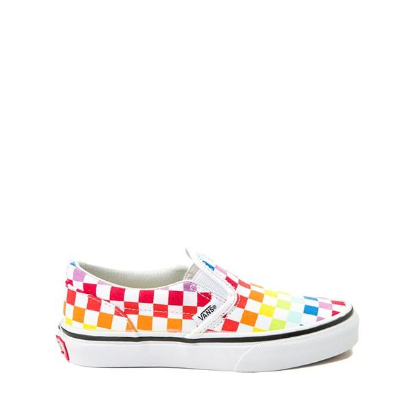 Main view of Vans Slip On Rainbow Chex Skate Shoe - Little Kid / Big Kid - Multi