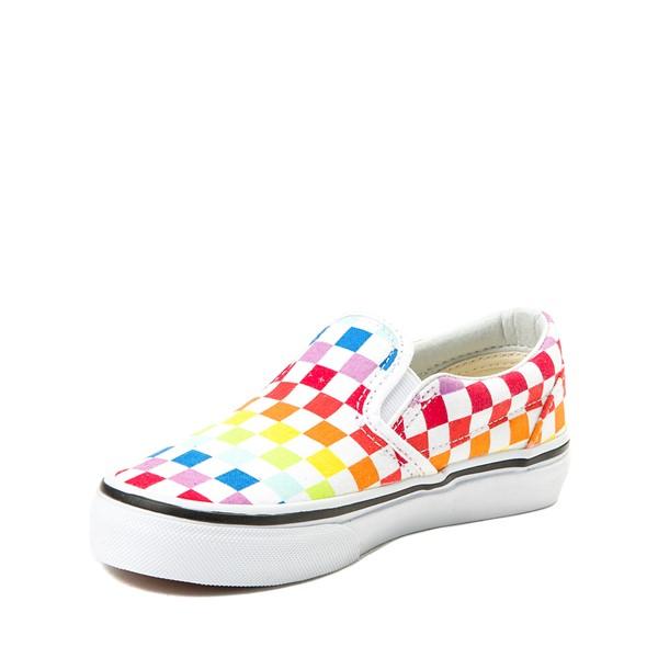 alternate view Vans Slip On Rainbow Chex Skate Shoe - Little Kid / Big Kid - MultiALT2