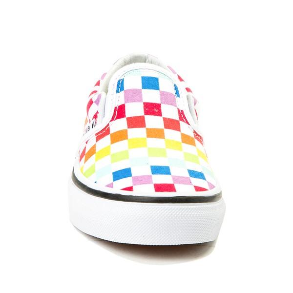 alternate view Vans Slip On Rainbow Chex Skate Shoe - Little Kid / Big Kid - MultiALT4