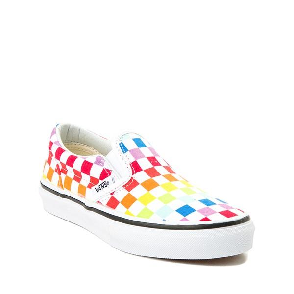 alternate view Vans Slip On Rainbow Chex Skate Shoe - Little Kid / Big Kid - MultiALT5