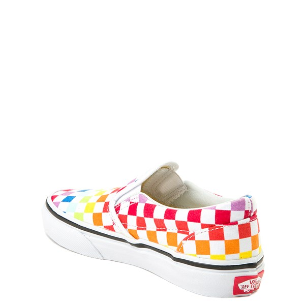 alternate image alternate view Vans Slip On Rainbow Chex Skate Shoe - Little Kid / Big KidALT2