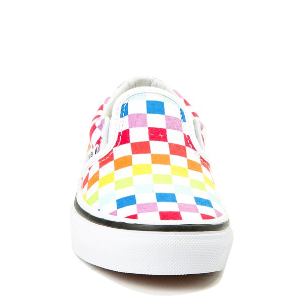 alternate image alternate view Vans Slip On Rainbow Chex Skate Shoe - Little Kid / Big KidALT4