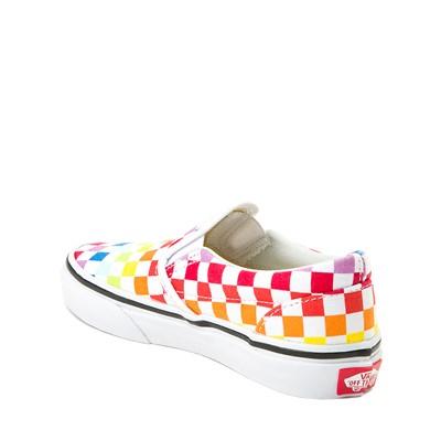 Alternate view of Vans Slip On Rainbow Chex Skate Shoe - Little Kid / Big Kid - Multi