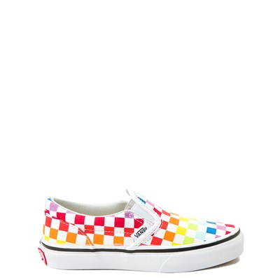 Main view of Vans Slip On Rainbow Chex Skate Shoe - Little Kid / Big Kid - Multi
