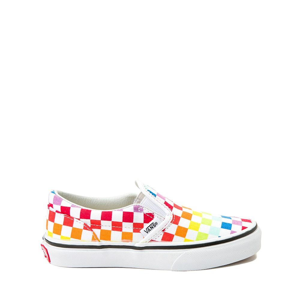 Vans Slip On Rainbow Chex Skate Shoe - Little Kid / Big Kid - Multi