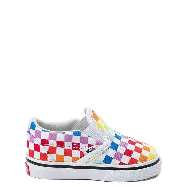 Main view of Vans Slip On Rainbow Chex Skate Shoe - Baby / Toddler - Multi