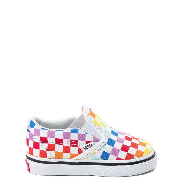 Vans Slip On Rainbow Chex Skate Shoe - Baby / Toddler