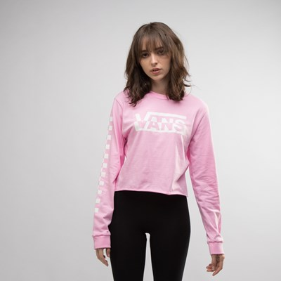 Main view of Womens Vans Blast Cropped Long Sleeve Tee