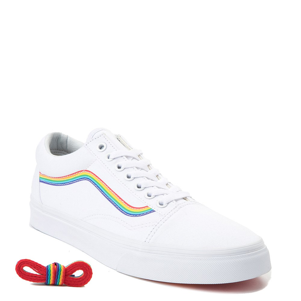 1a719108f1 Vans Old Skool Rainbow Skate Shoe