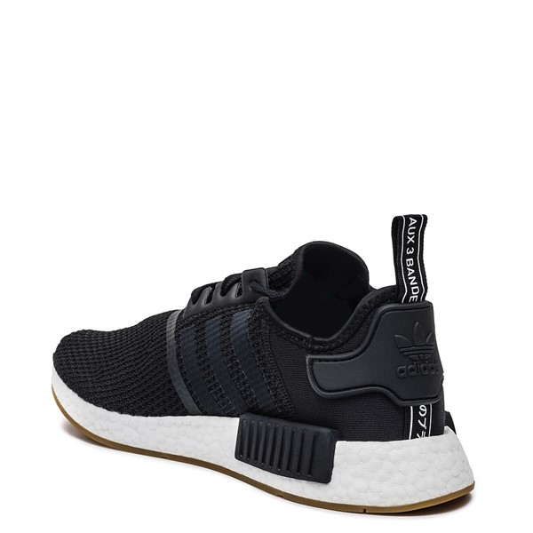 alternate image alternate view Mens adidas NMD R1 Athletic Shoe - Black / GumALT1