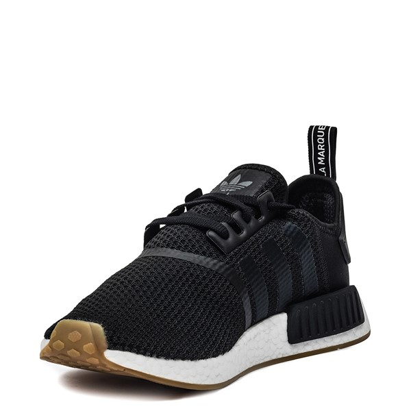 alternate image alternate view Mens adidas NMD R1 Athletic Shoe - Black / GumALT2