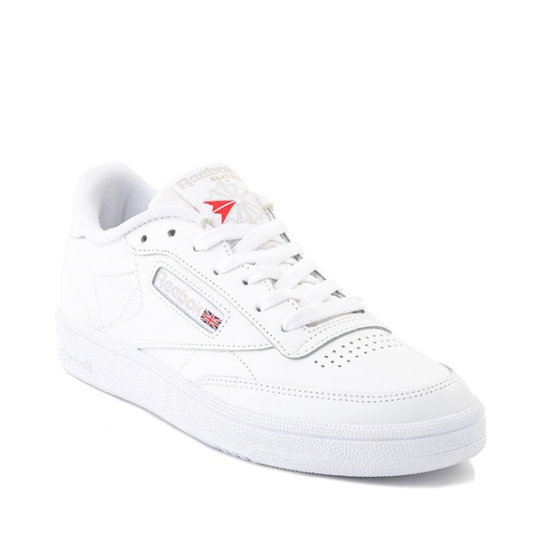 alternate image alternate view Womens Reebok Club C 85 Athletic Shoe - White / Light GreyALT5