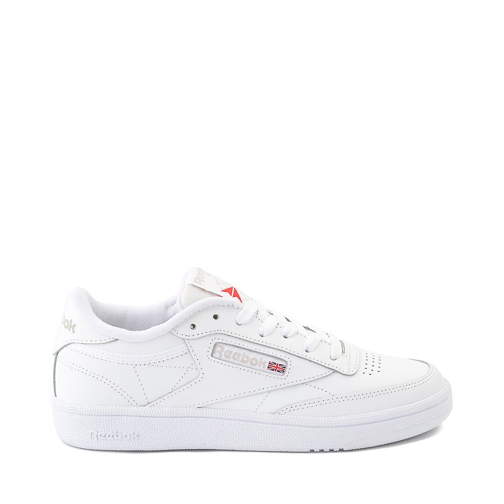Womens Reebok Club C 85 Athletic Shoe - White / Light Grey