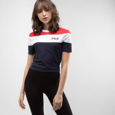 Main view of Womens Fila Maya Crop Tee