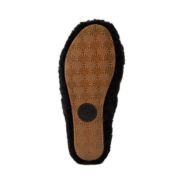 alternate image alternate view Womens UGG® Fluff Yeah Slide Sandal - BlackALT3