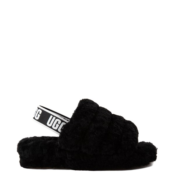 Main view of Womens UGG® Fluff Yeah Slide Sandal - Black