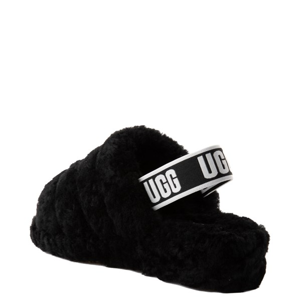 alternate image alternate view Womens UGG® Fluff Yeah Slide Sandal - BlackALT2