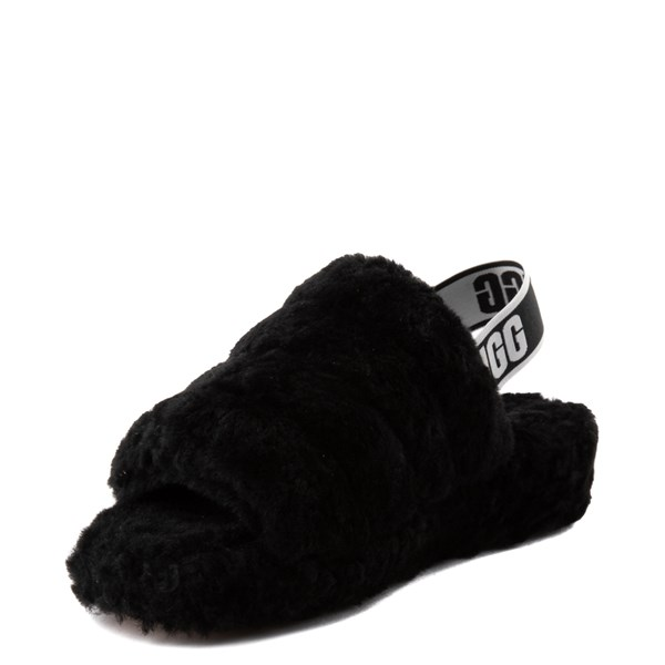 alternate image alternate view Womens UGG® Fluff Yeah Slide Sandal - BlackALT3