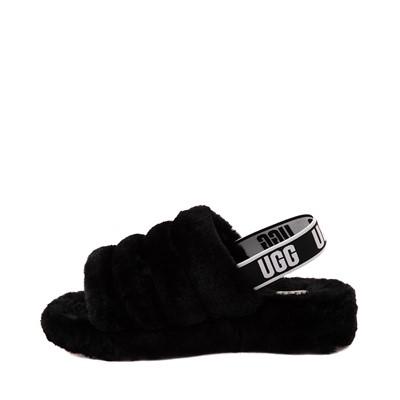 Alternate view of Womens UGG® Fluff Yeah Slide Sandal - Black