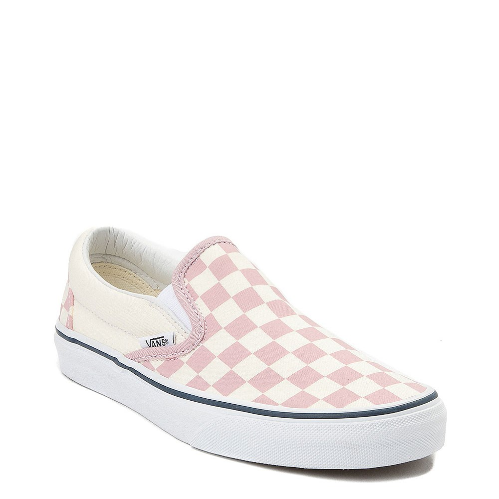 Vans Slip On Zephyr Pink & White Checkered Skate Shoes