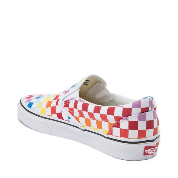 alternate view Vans Slip On Rainbow Chex Skate Shoe - MultiALT1