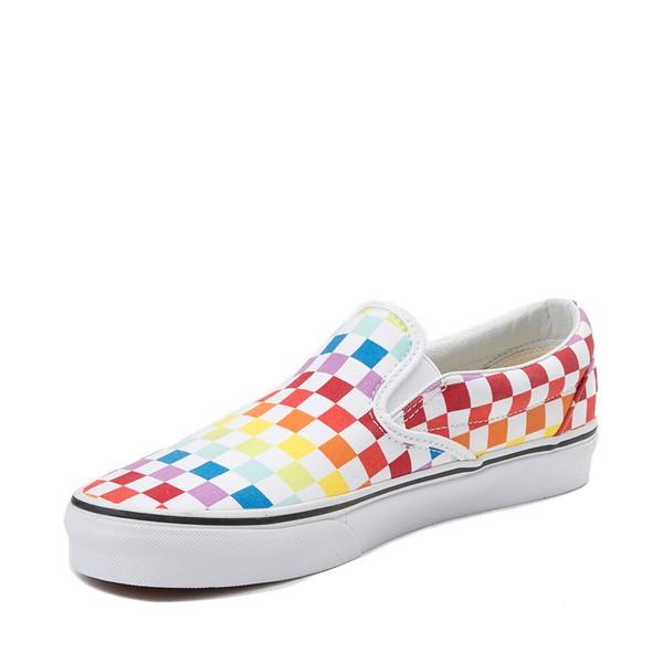 alternate view Vans Slip On Rainbow Chex Skate Shoe - MultiALT2