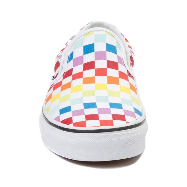 alternate view Vans Slip On Rainbow Chex Skate Shoe - MultiALT4