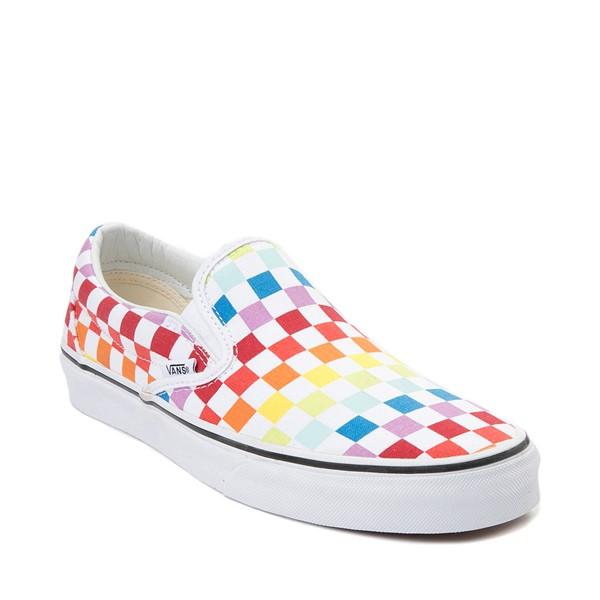 alternate view Vans Slip On Rainbow Chex Skate Shoe - MultiALT5