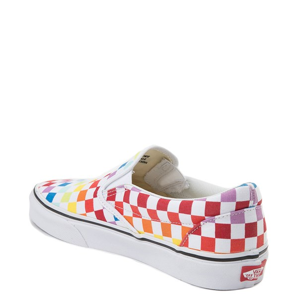 alternate image alternate view Vans Slip On Rainbow Chex Skate Shoe - MultiALT2