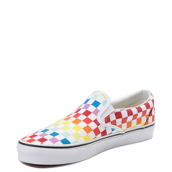 alternate image alternate view Vans Slip On Rainbow Chex Skate Shoe - MultiALT3