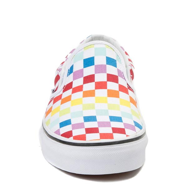 alternate image alternate view Vans Slip On Rainbow Chex Skate ShoeALT4