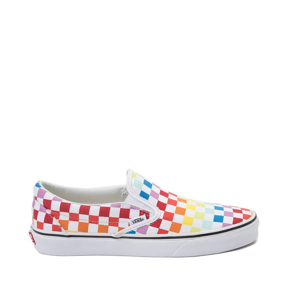 Vans Slip On Rainbow Chex Skate Shoe - Multi