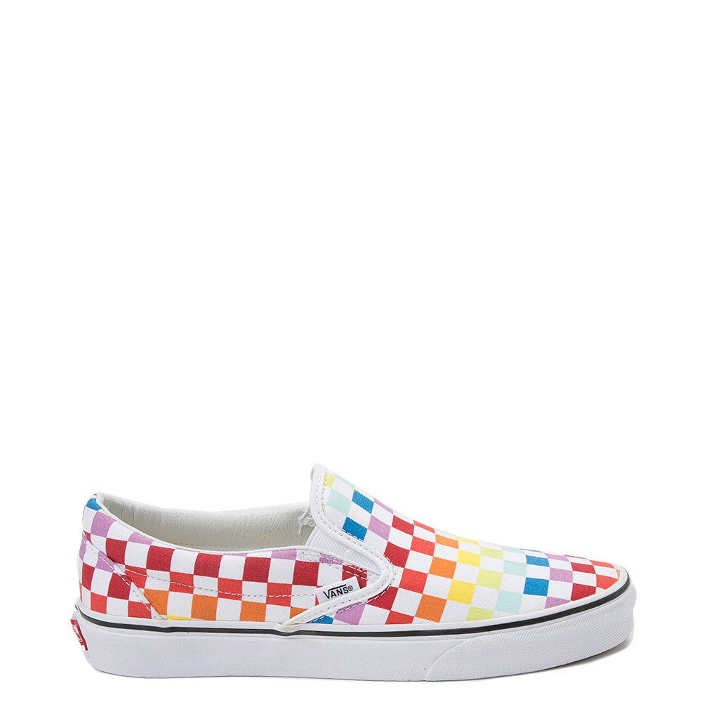 Vans Slip On Rainbow Chex Skate Shoe - Multi