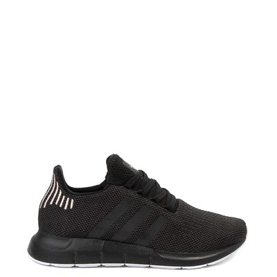 Main view of Womens adidas Swift Run Athletic Shoe - Black / White