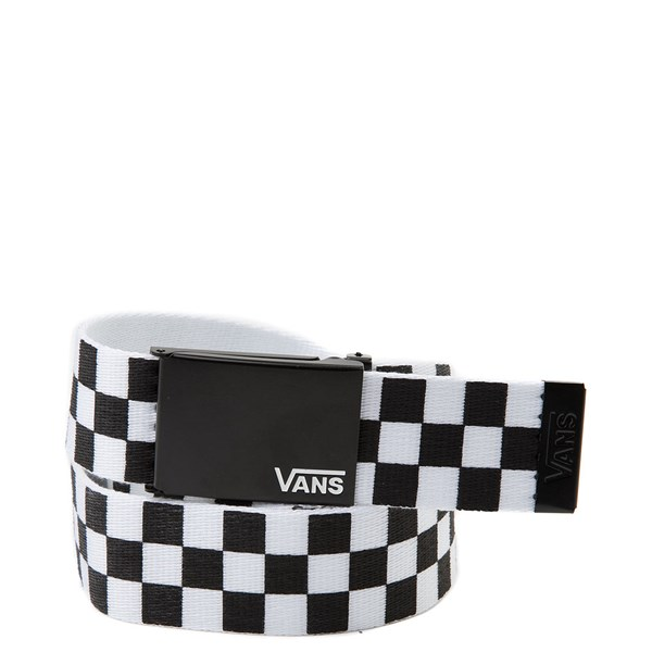 Main view of Vans Checkerboard Web Belt - Black / White