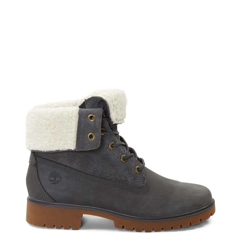 Womens Timberland Jayne Fleece Boot - Grey