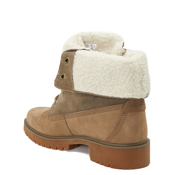 alternate image alternate view Womens Timberland Jayne Fleece Boot - TaupeALT1