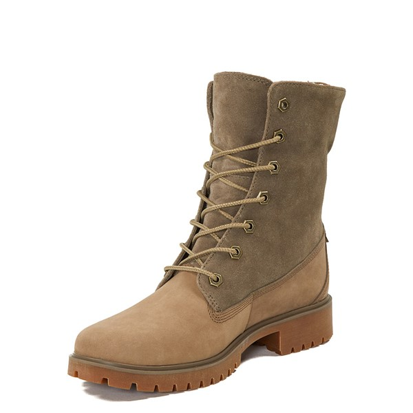 alternate image alternate view Womens Timberland Jayne Fleece Boot - TaupeALT2