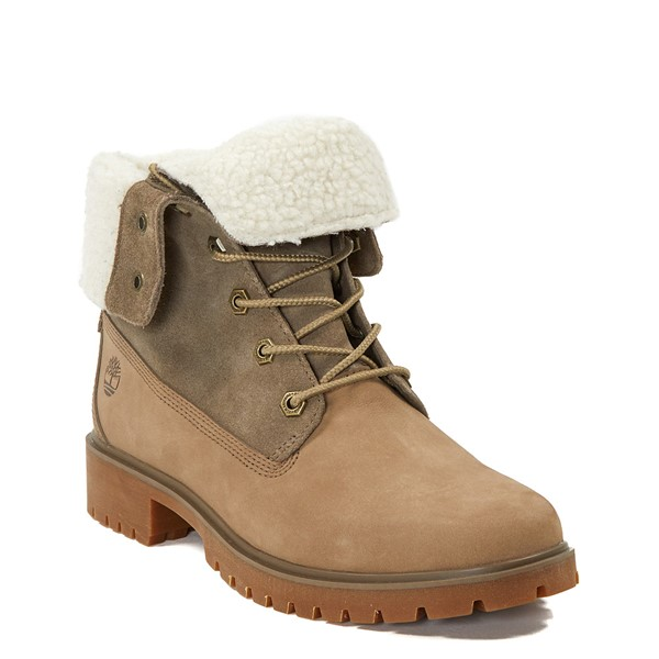alternate image alternate view Womens Timberland Jayne Fleece Boot - TaupeALT5
