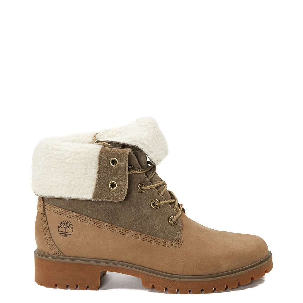 Womens Timberland Jayne Fleece Boot - Taupe