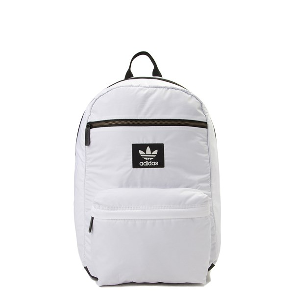 Main view of adidas National Plus Backpack - White / Black