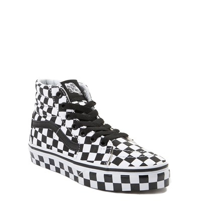 Alternate view of Vans Sk8 Hi Full Chex Skate Shoe - Little Kid / Big Kid