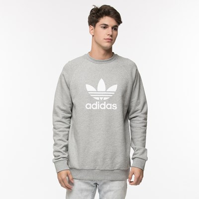 Main view of Mens adidas Trefoil Crew Sweatshirt