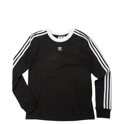 Main view of Womens adidas 3-Stripes Long Sleeve Tee