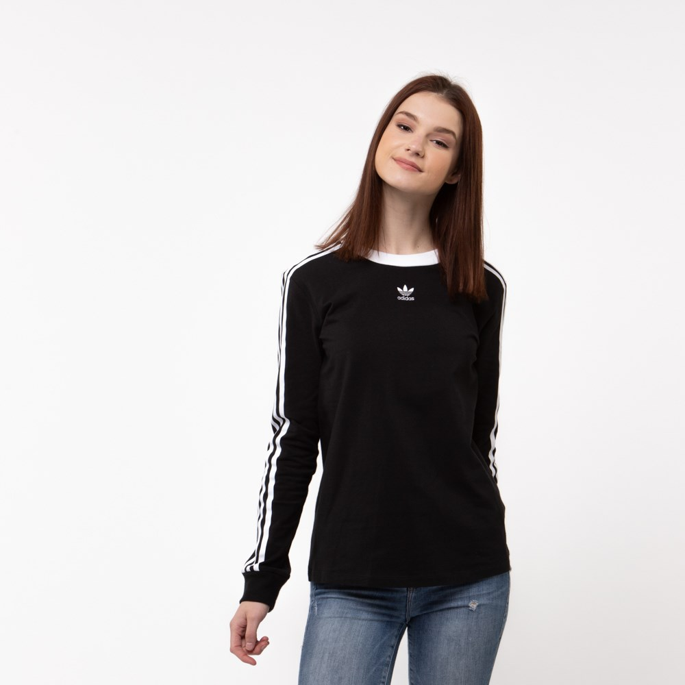 adidas 3 stripe shirt womens