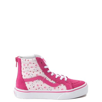 Main view of Youth Vans Sk8 Hi Zip Ditsy Kitty Skate Shoe - Little Kid