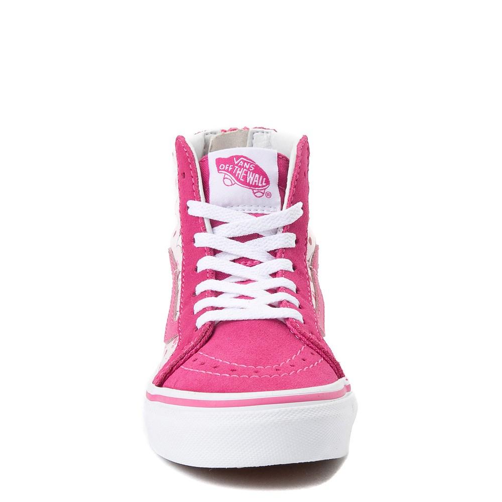 5c021ecad46f Youth Vans Sk8 Hi Zip Ditsy Kitty Skate Shoe - Little Kid ...