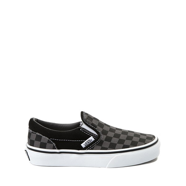 Vans Slip On Checkerboard Skate Shoe - Little Kid / Big Kid - Black / Grey