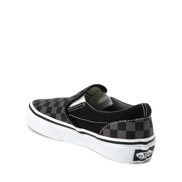 alternate image alternate view Vans Slip On Checkerboard Skate Shoe - Little Kid / Big Kid - Black / GreyALT1