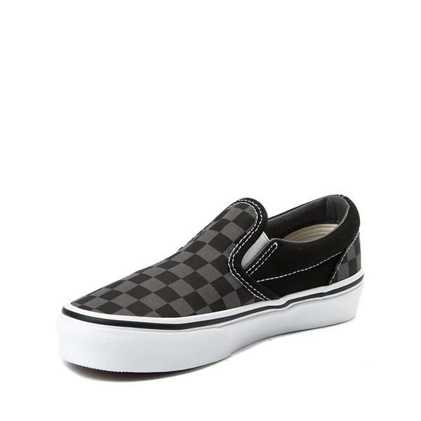 alternate image alternate view Vans Slip On Checkerboard Skate Shoe - Little Kid / Big Kid - Black / GreyALT2